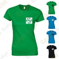 "T-shirt trackable ""Discover me"" Mulheres - Preto"