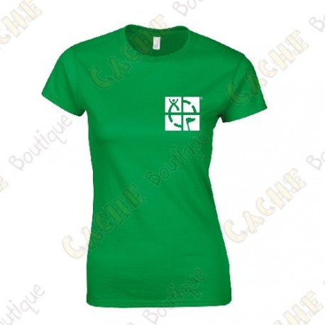 "Camiseta trackable ""Discover me"" Mujer - Negra"