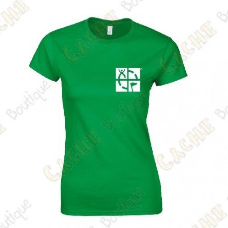 "T-shirt trackable ""Discover me"" Mulheres - Preto"
