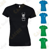 Trackable T-shirt with your Teamname, for Women - Black