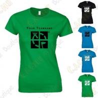 T-Shirt avec votre Pseudo, Femme - Noir