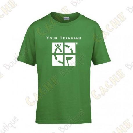 T-Shirt avec votre Pseudo, Enfant - Noir