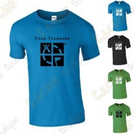 T-shirt with your Teamname, for Men - Black