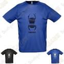 """T-Shirt technique trackable """"Travel Bug"""" Homme"""