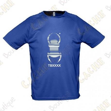 "Camiseta técnica trackable ""Travel Bug"" Hombre - Negra"