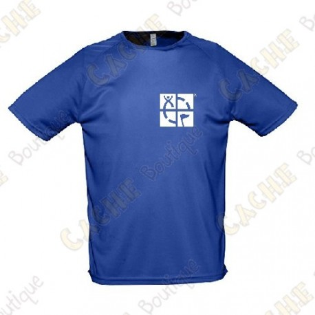 """T-shirt técnica trackable """"Discover me"""" Homem - Preto"""
