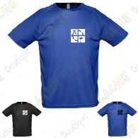 "Trackable ""Discover me"" technical T-shirt for Men - Black"