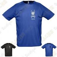 T-shirt técnica trackable com seu Apelido, Homem - Preto