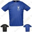 Camiseta técnica trackable con Teamname, Hombre