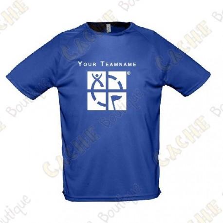 T-Shirt technique avec votre Pseudo, Homme - Noir
