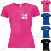"Camiseta técnica trackable ""Discover me"" Mujer - Negra"