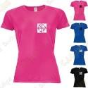 """T-Shirt technique trackable """"Discover me"""" Femme"""