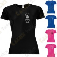 Camiseta técnica trackable con Teamname, Mujer