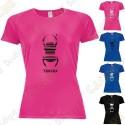 "Camiseta técnica trackable ""Travel Bug"" Mujer"