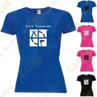 T-shirt técnica com seu Apelido, Mulher - Preto