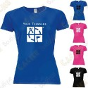 Camiseta técnica con Teamname, Mujer