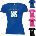 T-shirt técnica com seu Apelido, Mulher