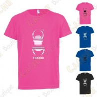 "Camiseta técnica trackable ""Travel Bug"" Niño - Negra"