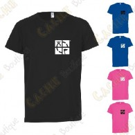 "T-Shirt technique trackable ""Discover me"" Enfant - Noir"
