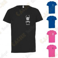 T-shirt técnica trackable com seu Apelido, Criança - Preto