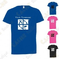 Technical T-shirt with your Teamname, for Kids - Black