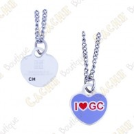 "Géocoin Collier ""I love GC"""