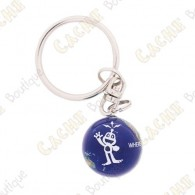"""Marble keychain """"Signal the Frog"""""""