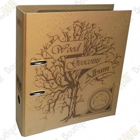Album pour géocoins en bois - Cache Boutique