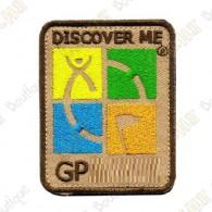 Groundspeak logo trackable patch - Quadricolor / Beige