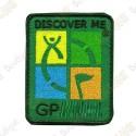 Parche Geocaching trackable - Quadricolor / Caqui