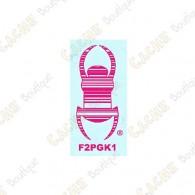 """Car TB sticker 3"""" - Pink"""
