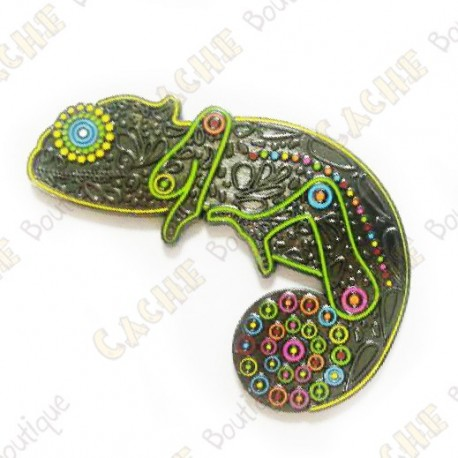 "Geocoin ""Chameleon"" - Neon Limited Edition"
