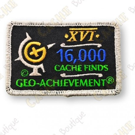 Geo Achievement® 16 000 Finds - Patch