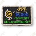 Geo Achievement® 16 000 Finds - Parche