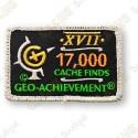 Geo Achievement® 17 000 Finds - Parche