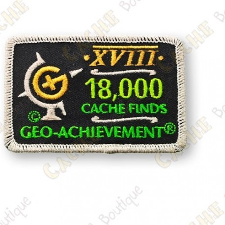 Geo Achievement® 18 000 Finds - Patch