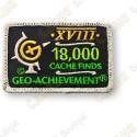 Geo Achievement® 18 000 Finds - Parche