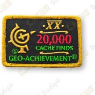 Geo Achievement® 20 000 Finds - Patch