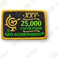 Geo Achievement® 25 000 Finds - Parche