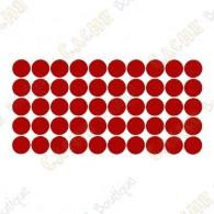 Almohadillas adhesivas reflectantes - Rojas