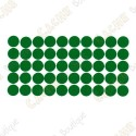 Pastilles adhésives réfléchissantes - Vertes
