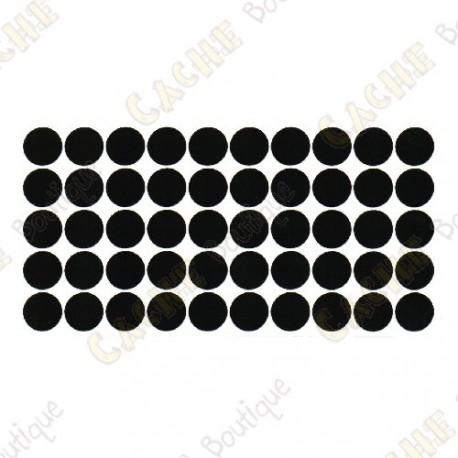 Almohadillas adhesivas reflectantes - Negras