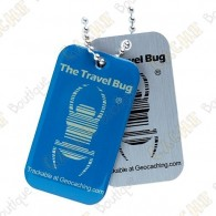 Travel bug QR - Bleu Phosphorescent