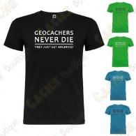 """T-Shirt """"Geocachers never die"""" Homme"""