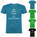 """T-shirt """"Keep Calm"""" Homem"""