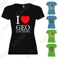 """""""I love Geocaching"""" T-shirt for Women"""
