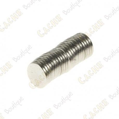 Magnets neodymes 8mm - Lot de 10