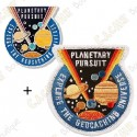 """Geocoin """"Planetary Pursuit"""" + Patch"""