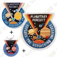 "Géocoin ""Planetary Pursuit"" + Traveler + Patch"