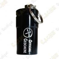 "Micro cache ""Official Geocache"" 7 cm - Black"